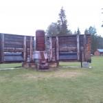 """""""Denkmal"""" beim Campingplatz in Lunde - die Schleuse und das Wasserkraftwerk"""