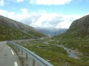 Beginn der Abfahrt nach Lysebotn