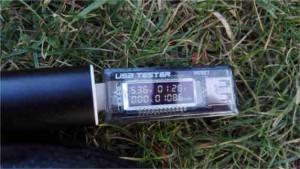7W Solarzelle parallel an über Ewerk an Nabendynamo. In 1h 26min wurden 1086mAh bei zirka 5V gewonnen.